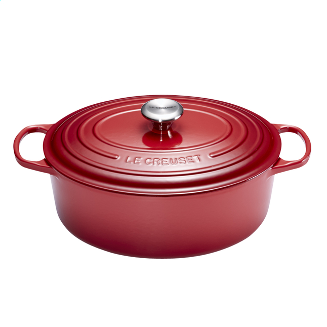 Afbeelding van Le Creuset ovale stoofpan Signature burgundy 29 cm - 4,7 l from ColliShop