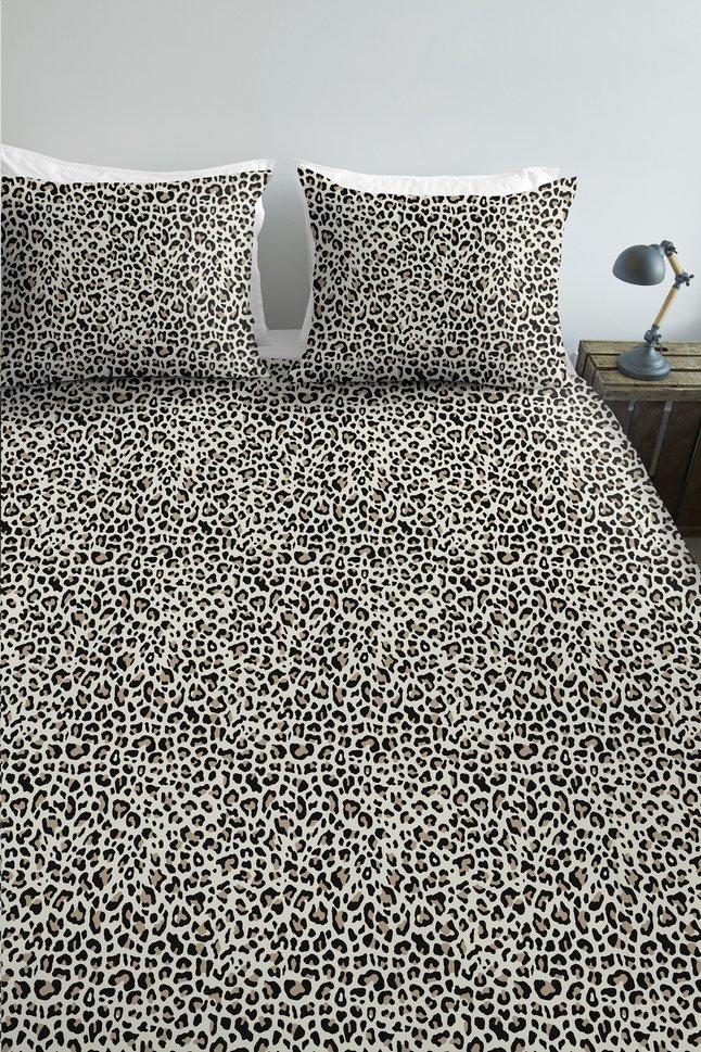 Image pour Ambiante Housse de couette Leopard natural coton 260 x 220 cm à partir de ColliShop