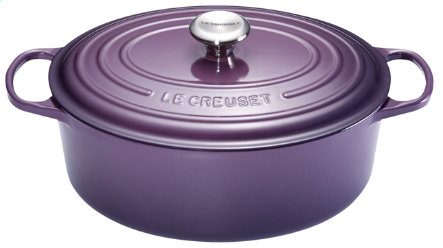 Afbeelding van Le Creuset ovale stoofpan Signature cassis 29 cm - 4,7 l from ColliShop