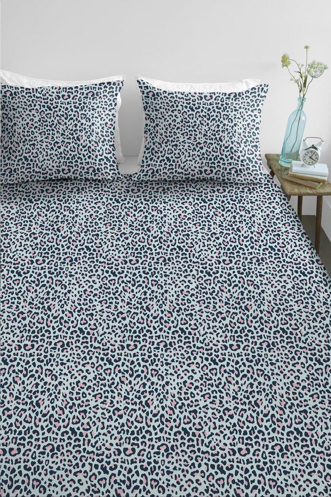 Afbeelding van Ambiante Dekbedovertrek Leopard blue katoen 260 x 220 cm from ColliShop