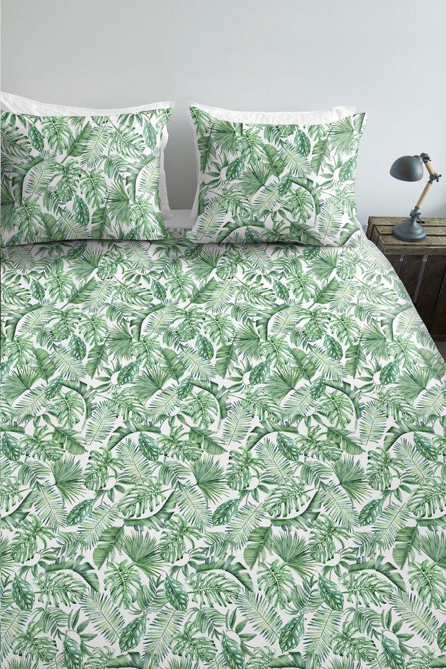 Afbeelding van Ambiante Dekbedovertrek Monstera green katoen 260 x 220 cm from ColliShop