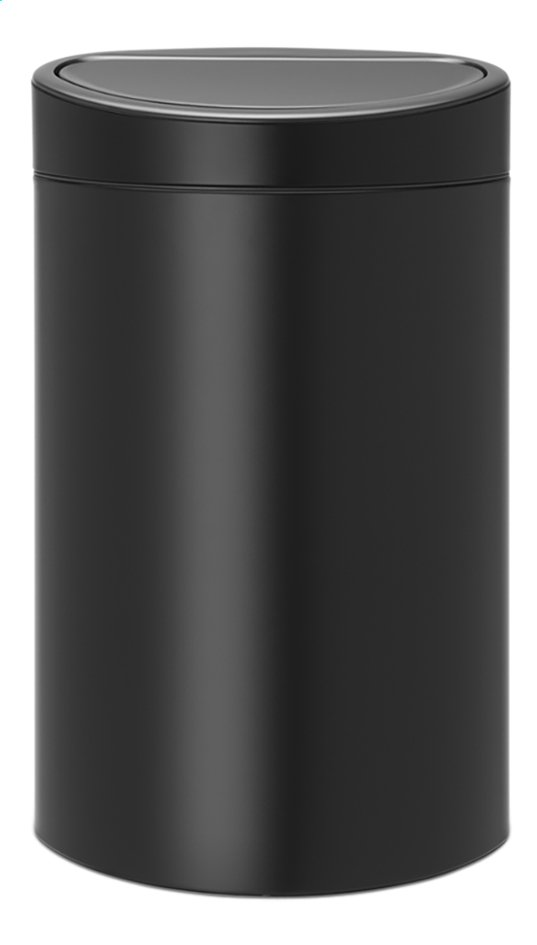 Brabantia poubelle touch bin new matt black 40 l collishop for Habitat poubelle cuisine