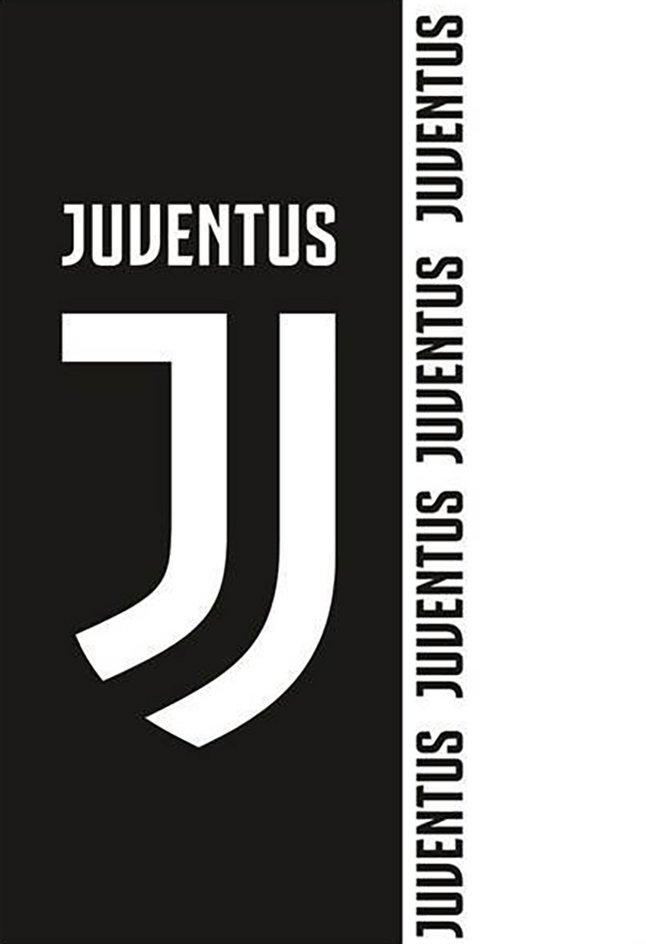 Drap de plage Juventus 70 x 140 cm noir