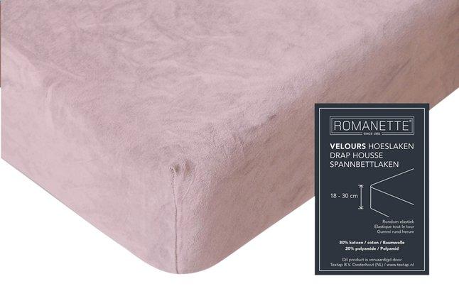 Image pour Romanette Drap-housse velours blush 90 x 200 cm à partir de ColliShop