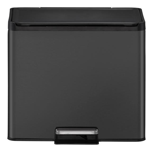 Eko Pedaalemmer Essential Recycler zwart 2 x 15 l