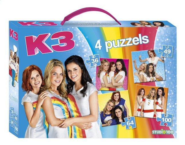 Afbeelding van Studio 100 puzzel 4-in-1 K3 met handvat from ColliShop