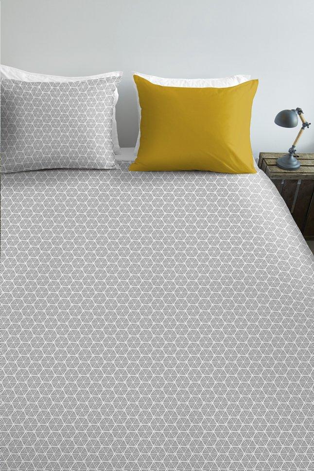 Image pour Ambiante Housse de couette Todd yellow coton 140 x 220 cm à partir de ColliShop