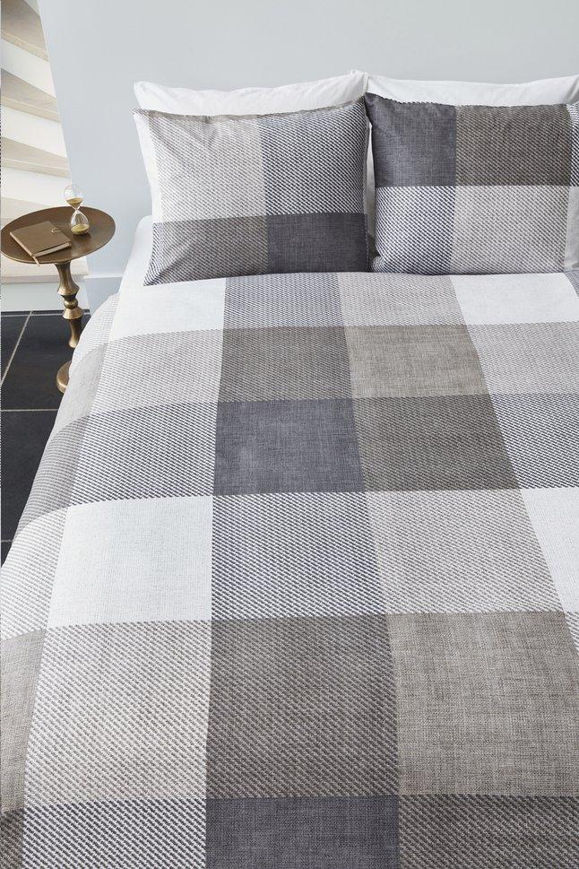 Image pour Beddinghouse Housse de couette Jim taupe coton 260 x 220 cm à partir de ColliShop