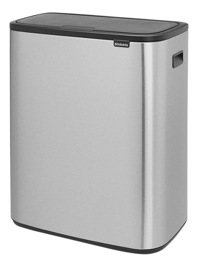 Brabantia 30 Liter Touch Bin.Brabantia Afvalemmer Touch Bin Bo Matt Steel Fingerprint Proof 2 X 30 L