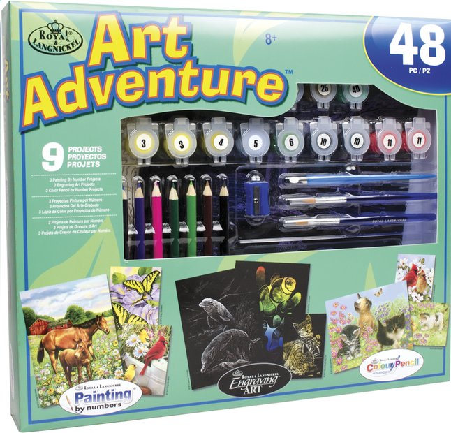 Afbeelding van Royal & Langnickel Art Adventure set groen 9 activiteiten from ColliShop