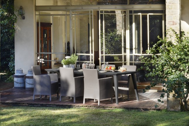 Image pour Allibert Ensemble de jardin Lima/Trenton cappuccino L 240 x Lg 97 cm à partir de ColliShop
