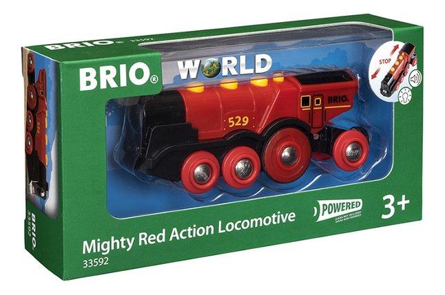 Afbeelding van BRIO World 33592 Grote rode locomotief op batterijen from ColliShop