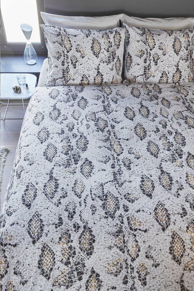 Beddinghouse Housse de couette Boa grey coton 200 x 220 cm