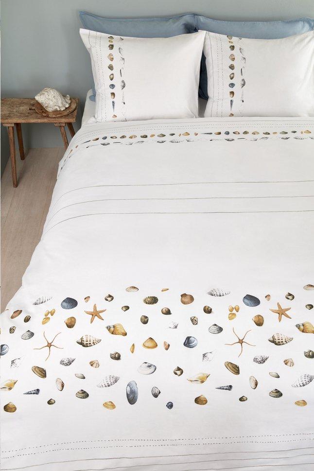 Image pour Marjolein Bastin Housse de couette Shelfish white coton 260 x 220 cm à partir de ColliShop