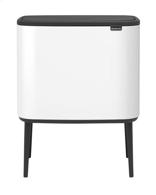 Brabantia Prullenbak Goedkoop.Brabantia Afvalemmer Touch Bin Bo White 36 L