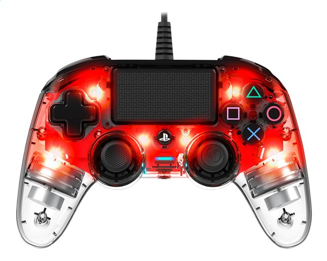 Afbeelding van Nacon PS4 Wired Compact Controller LED rood from ColliShop