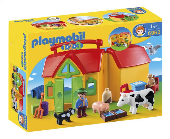 Image pour Playmobil 1.2.3 6962 Ferme transportable avec animaux à partir de ColliShop