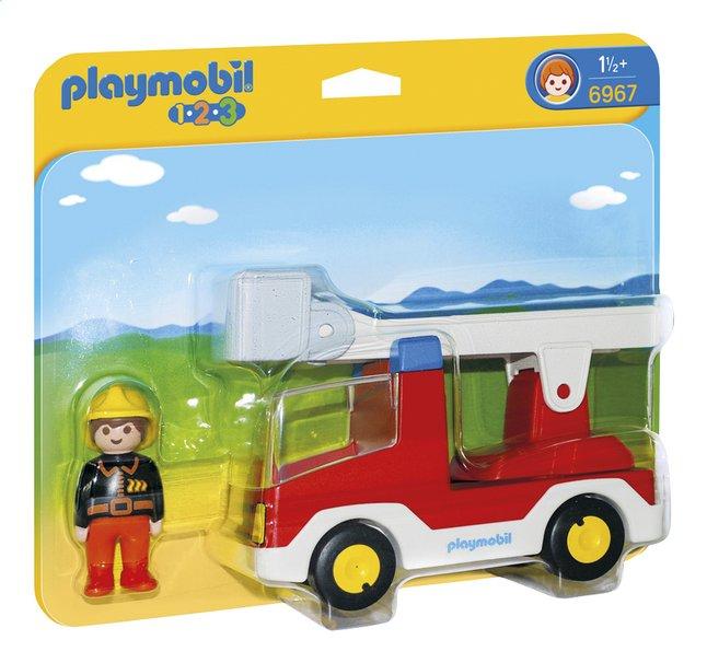 Image pour Playmobil 1.2.3 6967 Camion de pompier avec échelle pivotante à partir de ColliShop