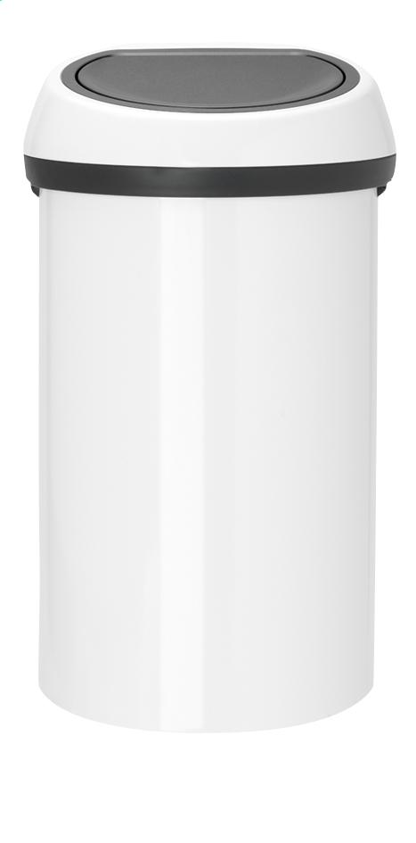 Afbeelding van Brabantia Afvalemmer Touch Bin wit 60 l from ColliShop