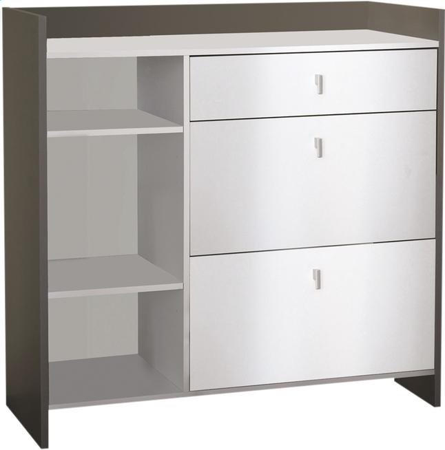 demeyere meubles armoire de cuisine battery d cor blanc collishop. Black Bedroom Furniture Sets. Home Design Ideas