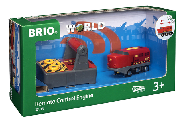 BRIO World 33213 Rode RC locomotief