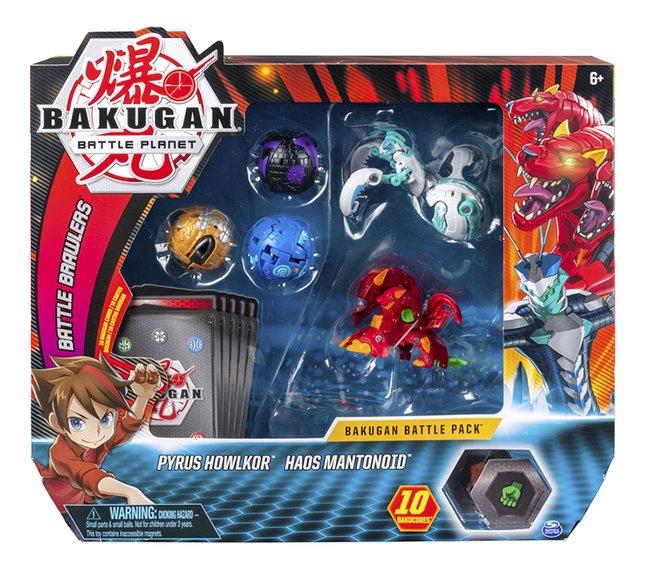 Image pour Bakugan Battle Pack 5 pièces - Pyrus Howlkor & Haos Mantonoid à partir de ColliShop