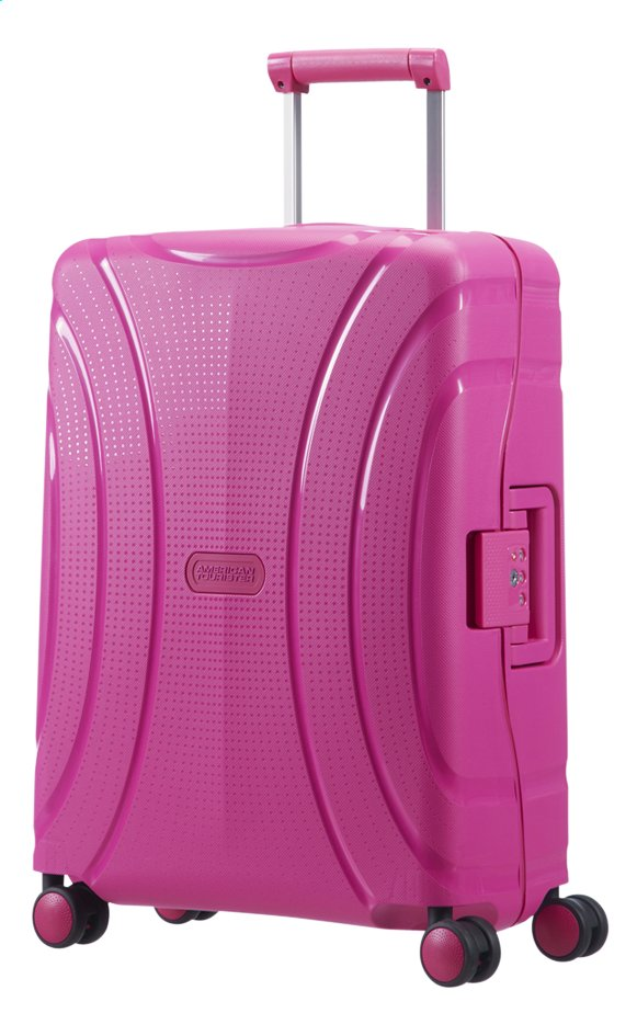 Afbeelding van American Tourister Harde reistrolley Lock'N'Roll Spinner dynamic pink 55 cm from ColliShop