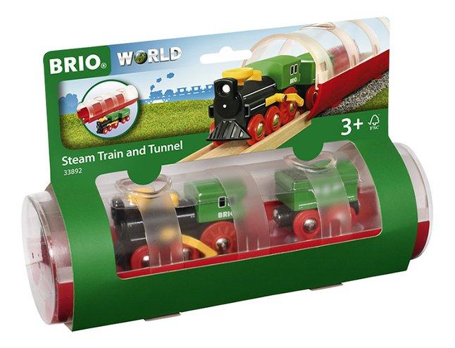 BRIO World 33892 Stoomtrein & tunnel