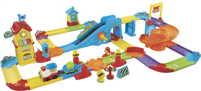 Afbeelding van VTech Tchou Tchou Bolides Mon circuit train interactif FR from ColliShop