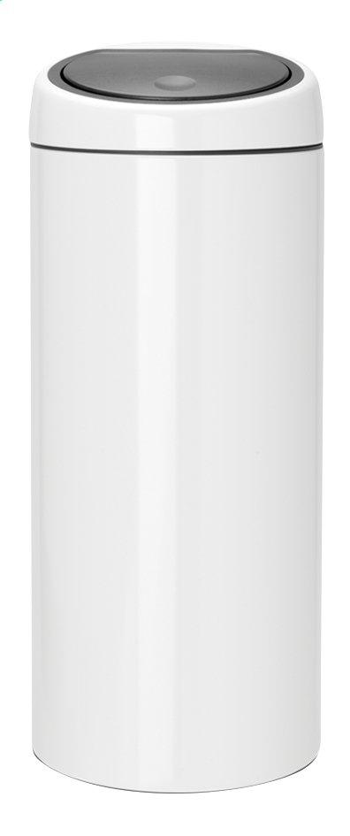 Brabantia poubelle touch bin blanc 30 l collishop for Habitat poubelle cuisine