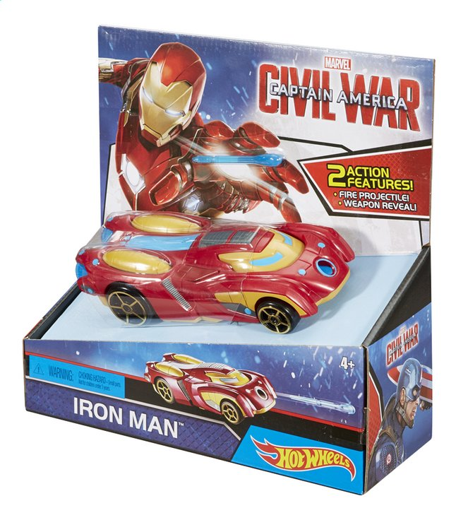 Afbeelding van Hot Wheels auto Captain America Civil War Iron Man from ColliShop