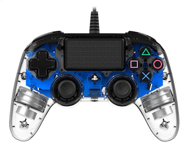 Afbeelding van Nacon PS4 Wired Compact Controller LED blauw from ColliShop
