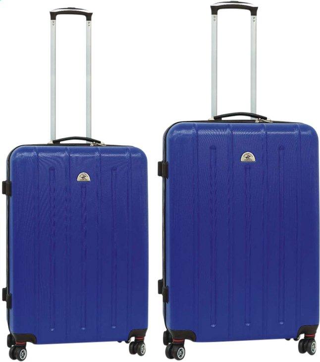 New York 6358e 54b13 Beverly Hills Polo Club Set de valises rigides navy