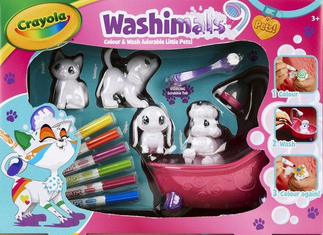 Afbeelding van Crayola Washimals Colour & Wash Adorable Little Pets! from ColliShop