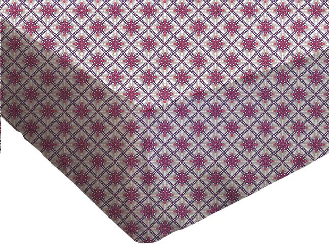 Afbeelding van Origin Hoeslaken Lilou paars/grijs 180 x 200 cm from ColliShop