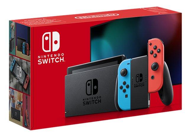 Nintendo Switch console autonomie supplémentaire rouge/bleu