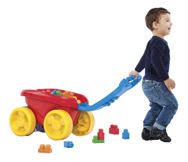 Afbeelding van Mega Bloks First Builders Block Scooping Wagon from ColliShop