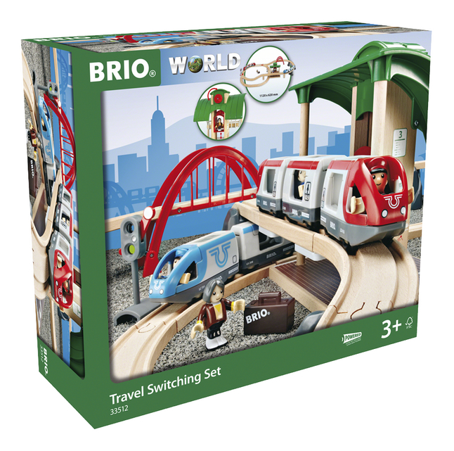 BRIO World 33512 Circuit plateforme voyageurs