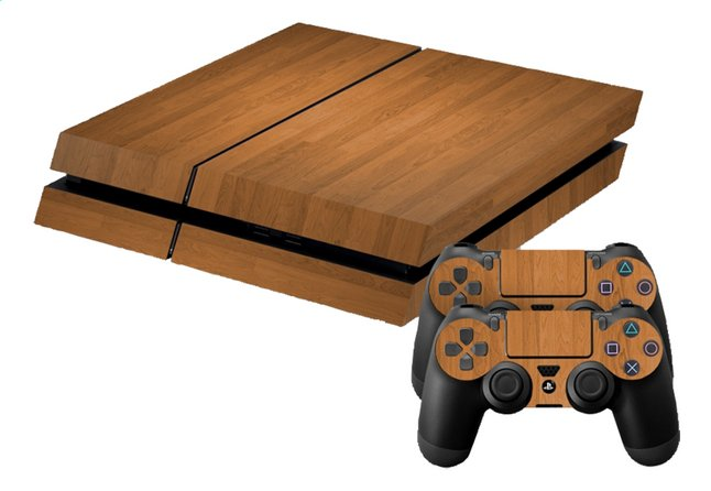 Afbeelding van PS4 console skins + 2 controllers skins  Wood from ColliShop