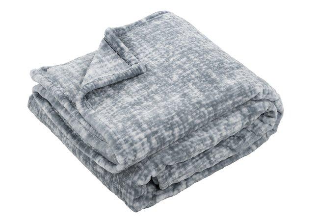Image pour Plaid Chambray grey polyester 130 x 170 cm à partir de ColliShop