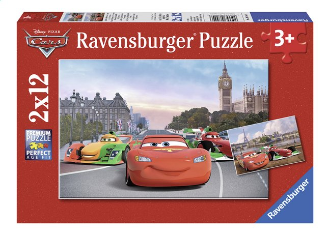 Afbeelding van Ravensburger puzzel 2-in-1 Disney Cars Lightning McQueen en z'n vrienden from ColliShop