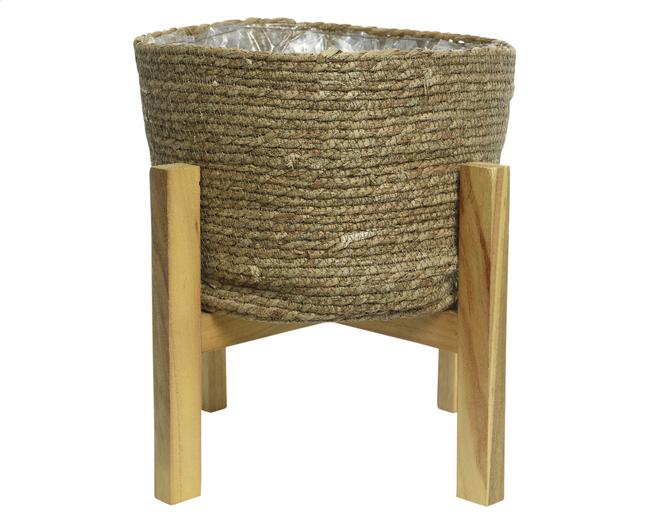 Image pour Panier sur pied 41 cm brun à partir de ColliShop
