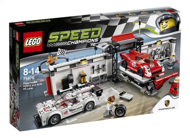 Afbeelding van LEGO Speed Champions 75876 Porsche 919 Hybrid en 917K pitstraat from ColliShop