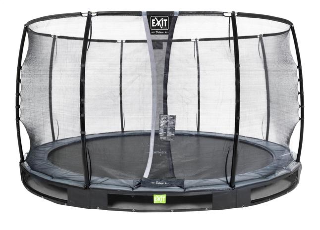 Afbeelding van EXIT inbouwtrampoline met veiligheidsnet Elegant Ground Premium Deluxe Ø 3,66 m zwart from ColliShop