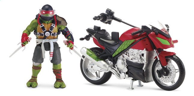 Afbeelding van Speelset Teenage Mutant Ninja Turtles: Out of the Shadows moto en Raph from ColliShop