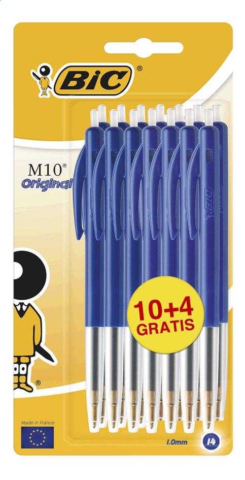 Bic stylo à bille  M10 Original bleu - 14 pièces