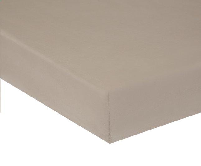 Afbeelding van Home lineN hoeslaken Bicolore taupe flanel 160 x 200 cm from ColliShop