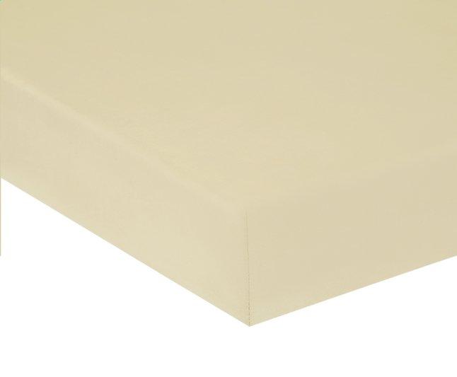Image pour Home lineN Drap-housse Bicolore ivoire en coton 160 x 200 cm à partir de ColliShop
