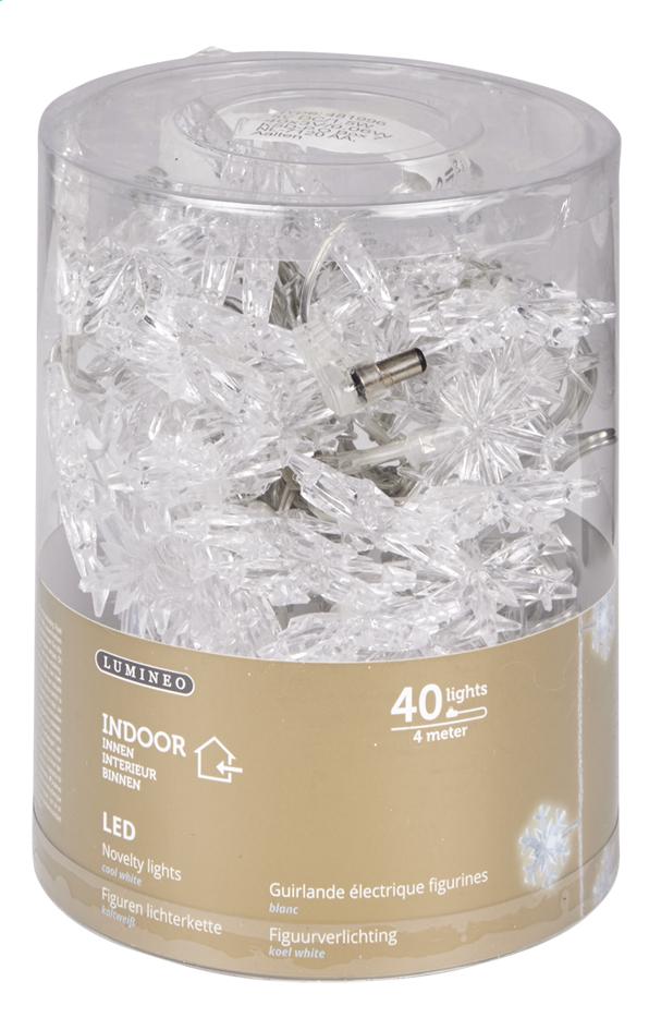 Guirlande Lumineuse Led Flocons 40 Lampes Blanc Froid