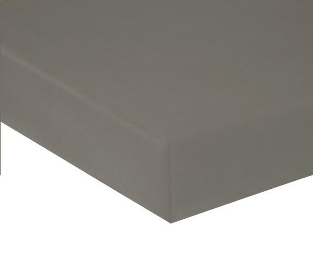 Afbeelding van Home lineN hoeslaken Bicolore lichtgrijs katoen 90 x 200 cm from ColliShop